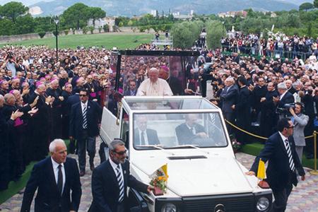 Papa Giovanni Paolo II - Visita a Pontecagnano 1999